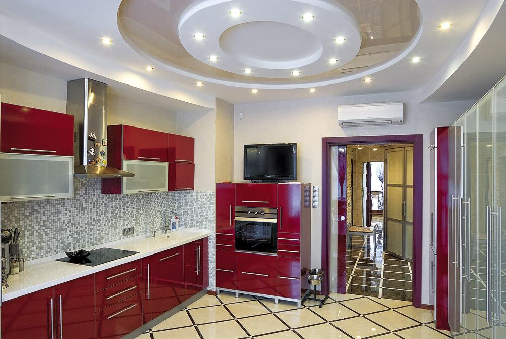 Интерьер кухни 12 метров фото